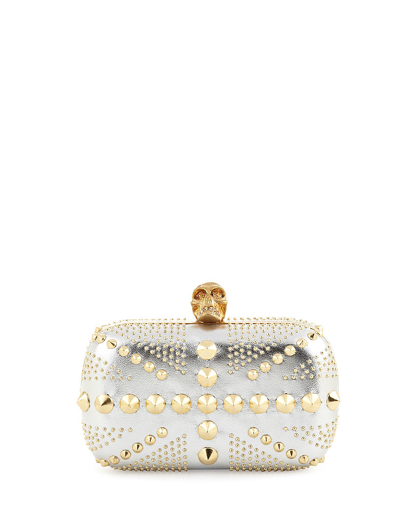 Alexander McQueen Union Jack Skull Metallic Clutch Bag ($1,795)