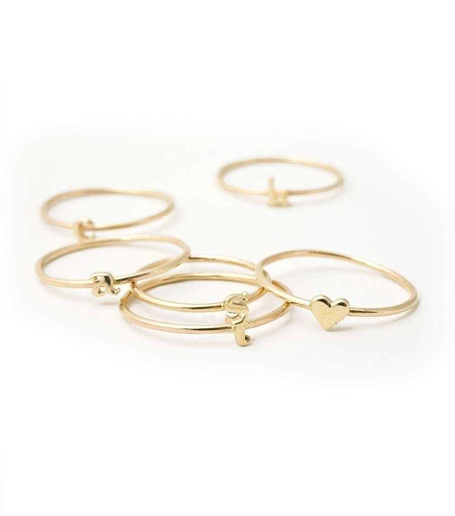 Available with different letters and symbols, like a heart and an ampersand, Catbird's gold alphabet ring ($96) is ideal for stacking. The on-trend piece can be mixed and matched, so you can customize the gift by choosing a friend's initials. — Laura Marie Meyers, assistant news editor