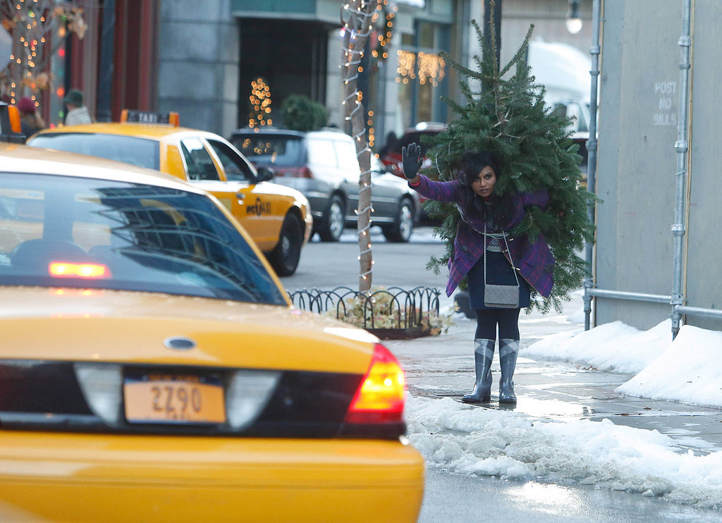 The Mindy Project Mindy deals with the snow.