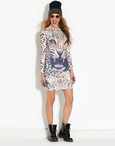 Wild Cat Graphic Midi Dress