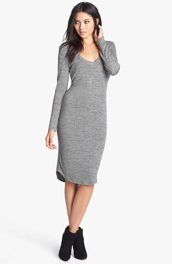 At home or out, this Madison & Berkeley V-Neck Midi Sweater Dress ($42) is just as stylish.