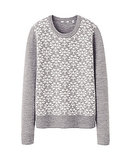 We can't not shop this Uniqlo Extra Fine Merino Jacquard Sweater ($30).