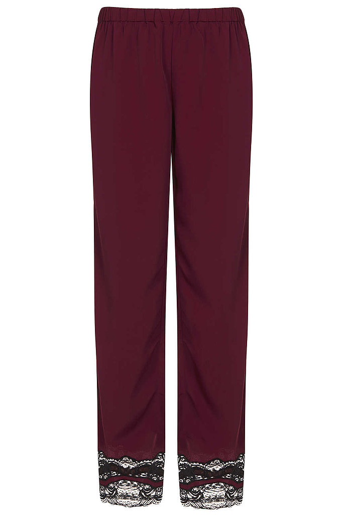 The detail on these Topshop Lace Trim Pyjama Trousers ($44) make them extraspecial.