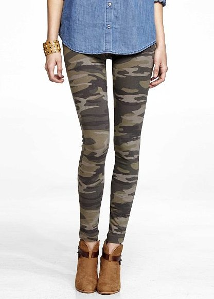 If you're not into a basic legging, slip into these Express Camo Sexy Stretch Legging ($35) to give your outfit some pop.