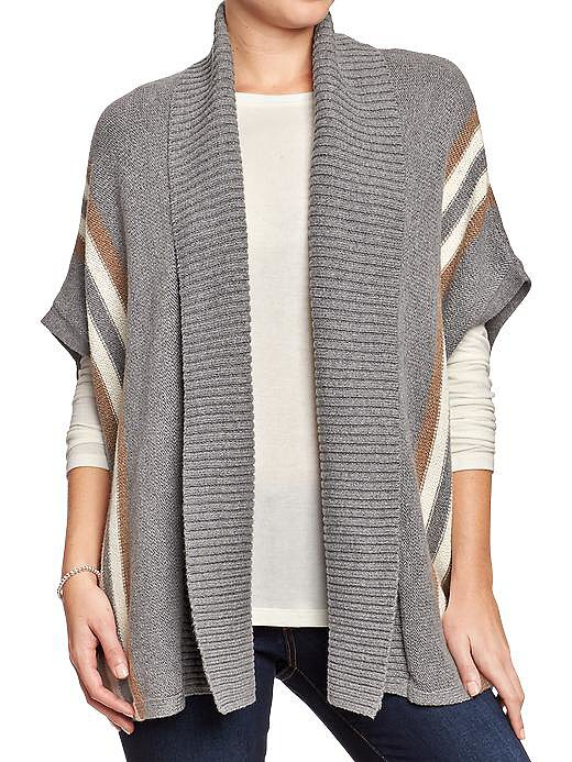 Add this Old Navy Open Front Blanket Stripe Cardigan ($45) to jeans for a boho spin, or slip it over your nightie at home.