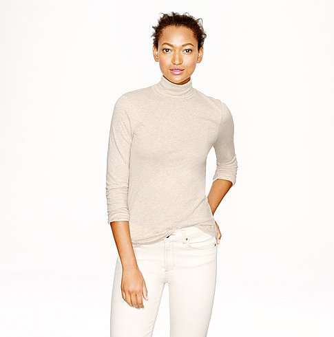 J.Crew's Tissue Turtleneck Tee ($30, originally $40) will become a wardrobe staple.