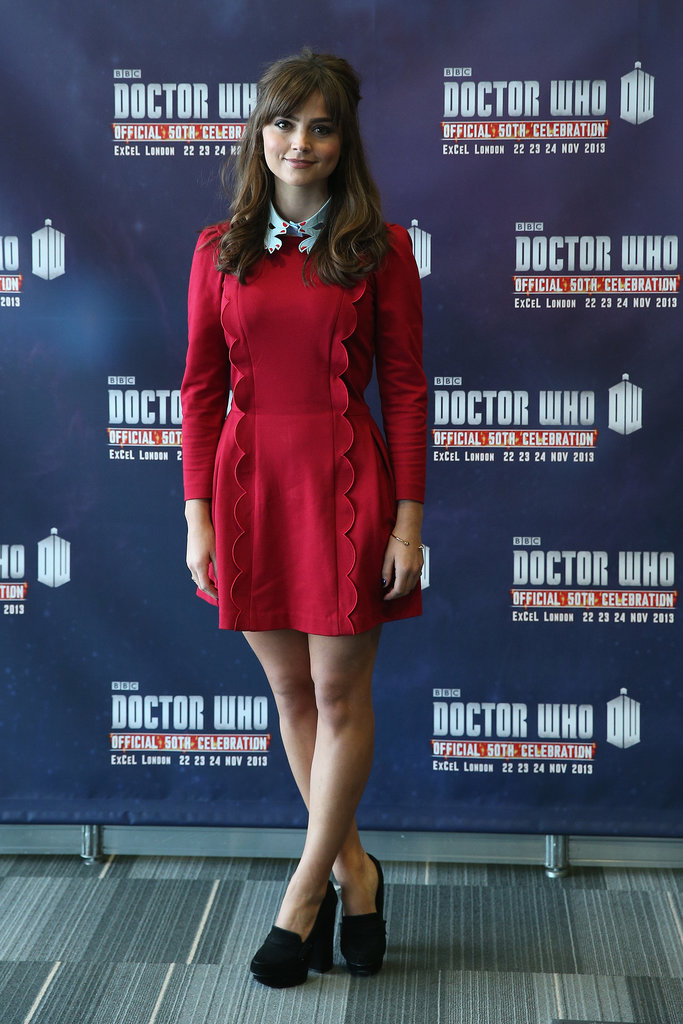 Appearing at the Doctor Who 50th anniversary celebrations in London, Jenna looked great in a collared dress with scalloped trim. But her look wasn't always so effortless!