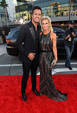 Luke Bryan and his wife, Caroline, sparkled.
