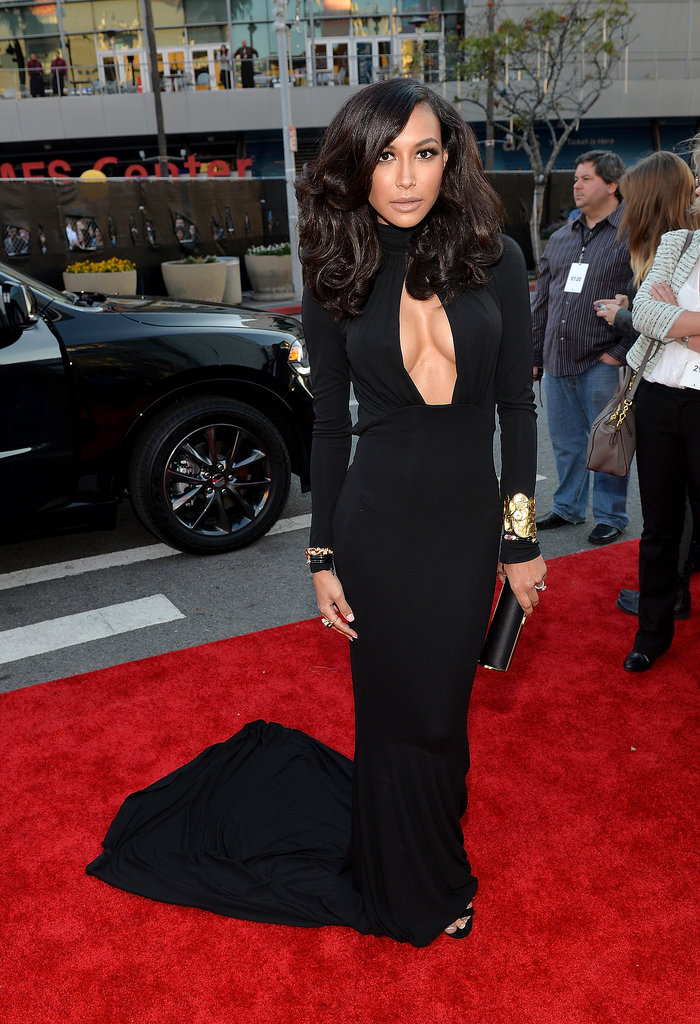 Naya Rivera showed skin in a cutout gown.