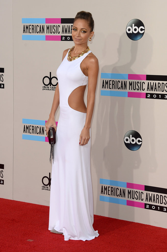 Nicole Richie wore a white ensemble.