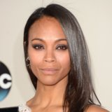 Zoe Saldana Hair and Makeup at American Music Awards 2013