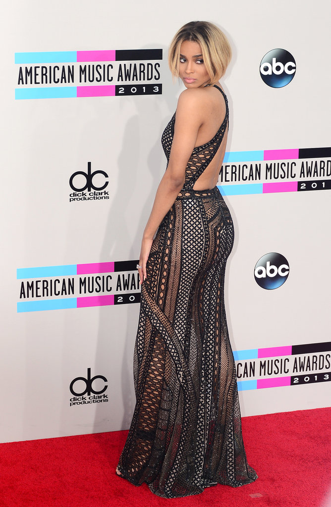 Ciara showed off her backside.