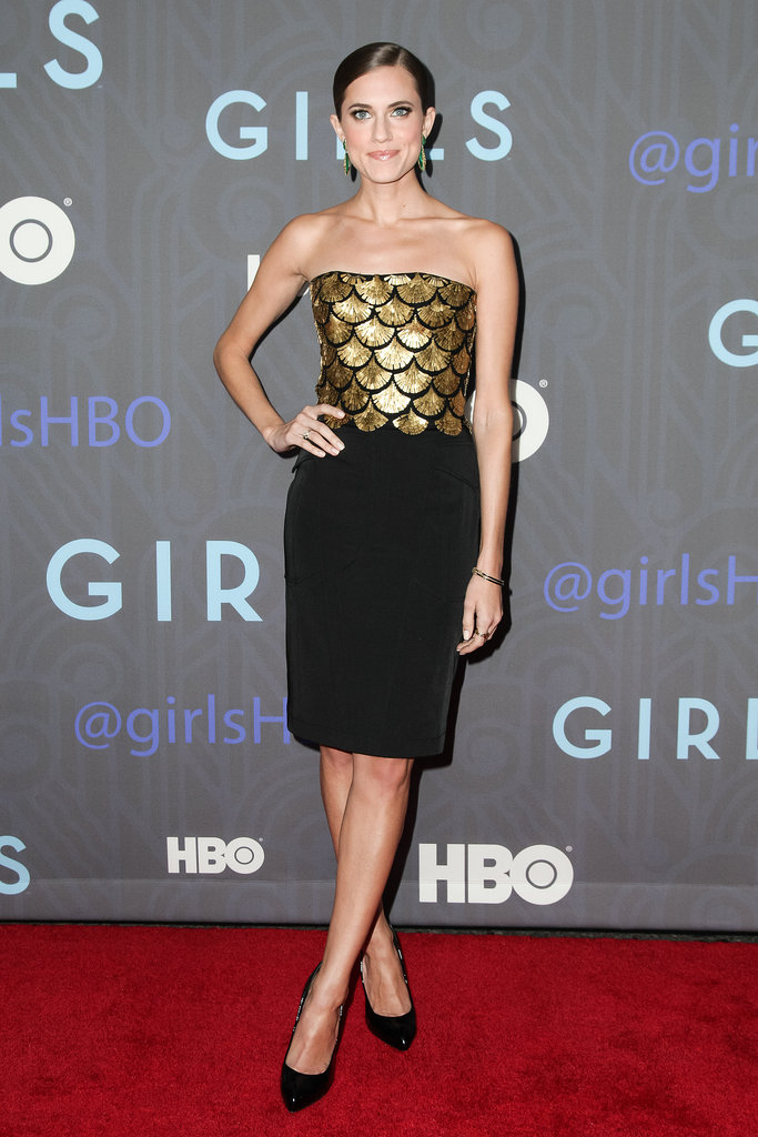 Embrace the holiday-season glitz with a little high-shine inspired by Allison Williams's Altuzarra dress.