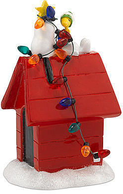 Department 56 Collectible Figurine, Peanuts Village Tangled up in Chrismas