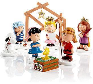 Department 56 Collectible Figurines, Peanuts Village Peanuts 8 Piece Nativity Set