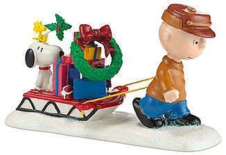 Department 56 Collectible Figurine, Peanuts Village Shopping is Done