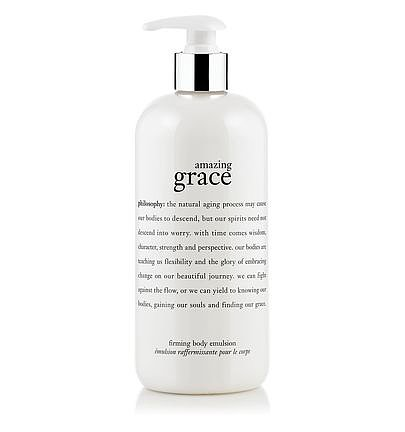 There's a fine line between feeling greasy and moisturized after applying lotion. Amazing Grace Firming Body Emulsion ($50) by Philosophy hydrates and refreshes my skin, leaving it smooth and firm throughout the day. My favorite part: the subtle scent doesn't makes its own introduction. — Nick Maslow, editorial assistant