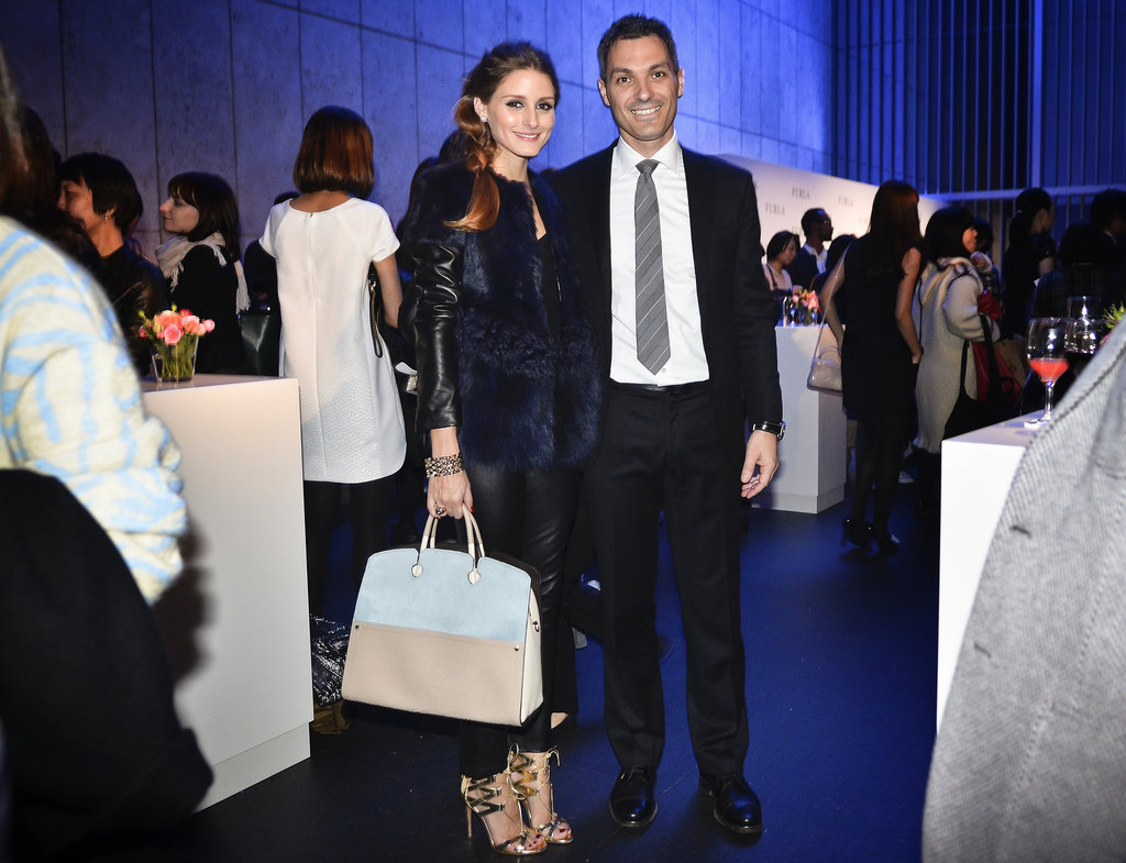 For an event with Furla in Tokyo, the style setter opted for a richly hued fur and a great bag.
