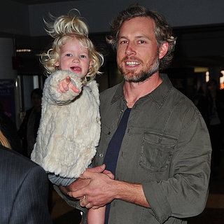 Eric Johnson With Son Ace at LAX