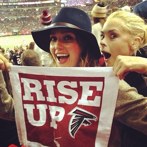 Who wouldn't want these two in their cheering section? Source: Instagram user jaime_king