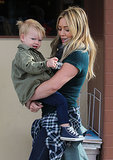 Hilary Duff took her son, Luca, out to breakfast in LA.