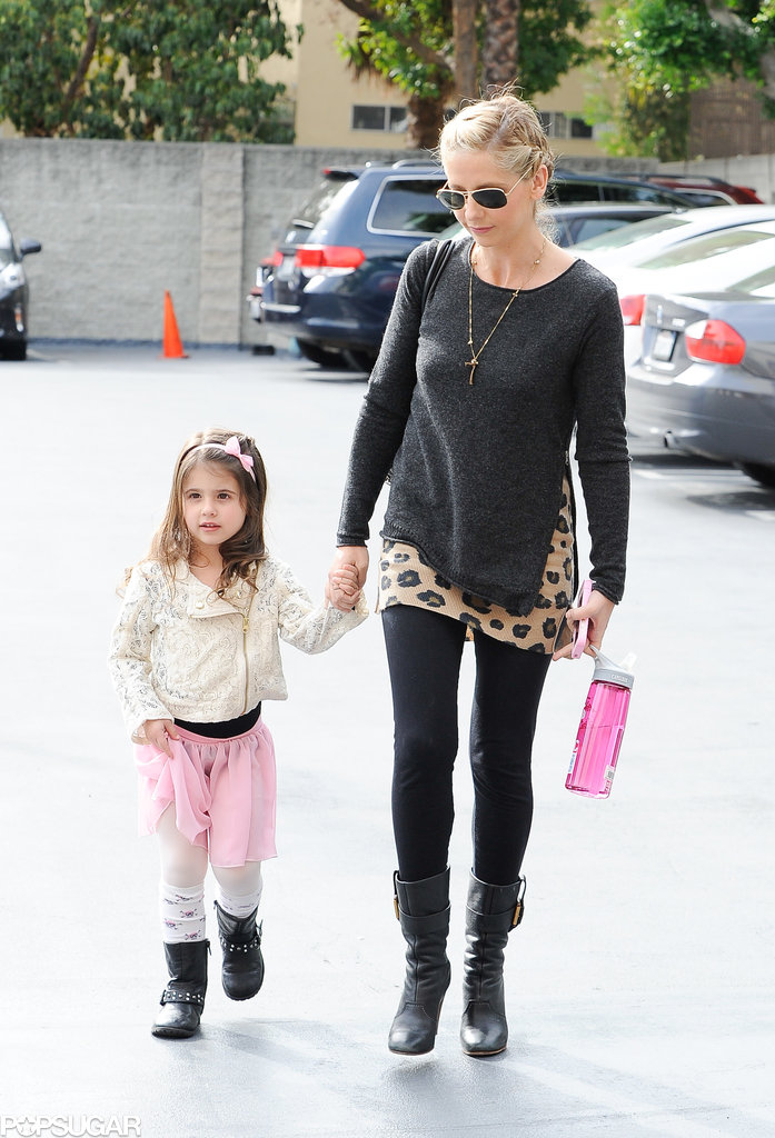Sarah Michelle Gellar took Charlotte Prinze to her Saturday ballet class in LA.