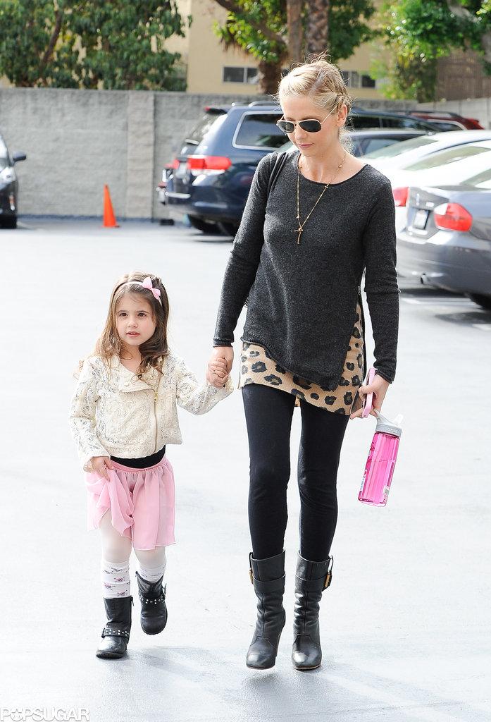 Sarah Michelle Gellar took Charlotte Prinze to her Saturday ballet class in LA.