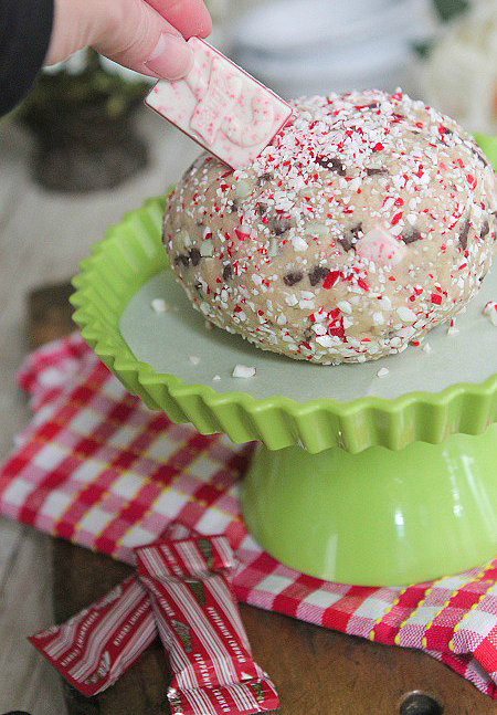 Peppermint Crunch Cookie Dough Ball