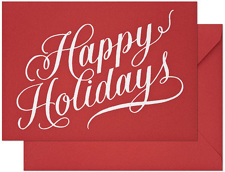 Sugar Paper Red Holiday Cards Set Of 6