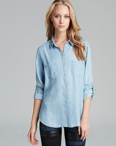 C&C California Shirt - Textured Chambray Two Pocket