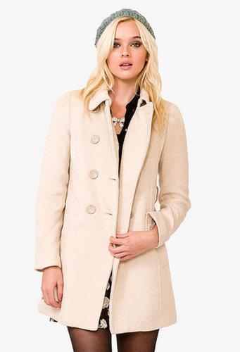 FOREVER 21 Wool-Blend Pea Coat