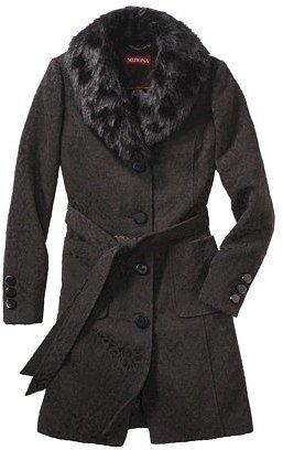 Merona® Women's Faux Fur Collar Luxe Coat -Animal Print