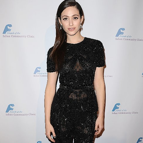 Emmy Rossum Black Jumpsuit