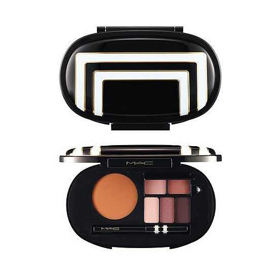 We spent a good amount of time cooing over MAC's Stroke of Midnight Face Palette ($50), which not only has a set of gorgeous colors inside, but boasts one of the more glamorous packaging we've seen this season.