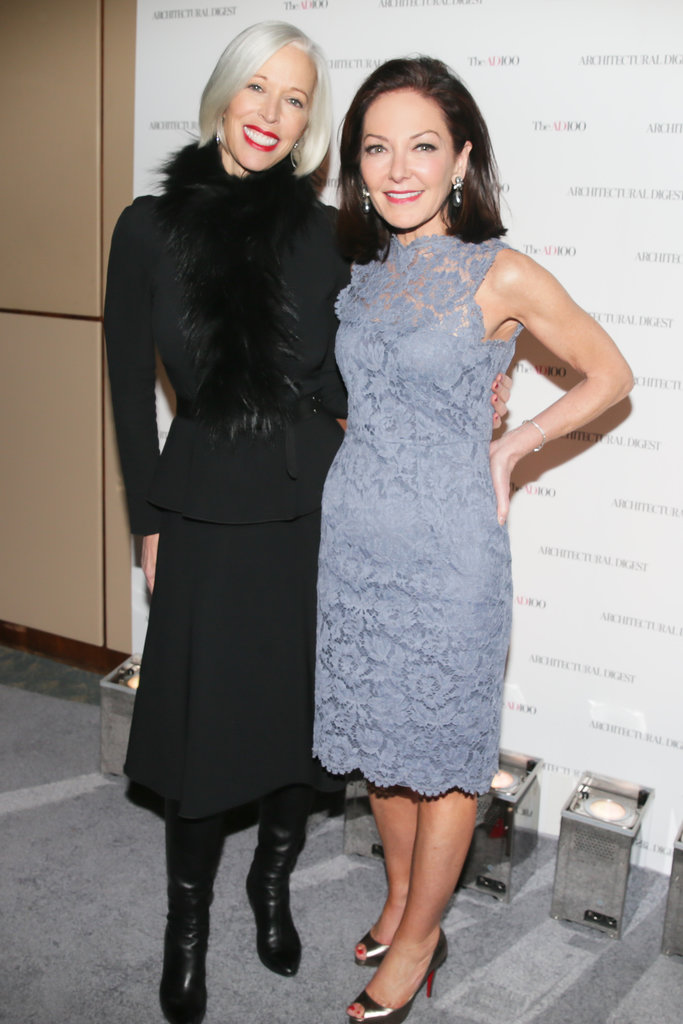 Linda Fargo and Architectural Digest editor in chief Margaret Russell at the magazine's AD100 celebration.