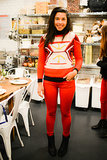 Hannah Bronfman at Rebecca Minkoff's Friendsgiving cooking class.
