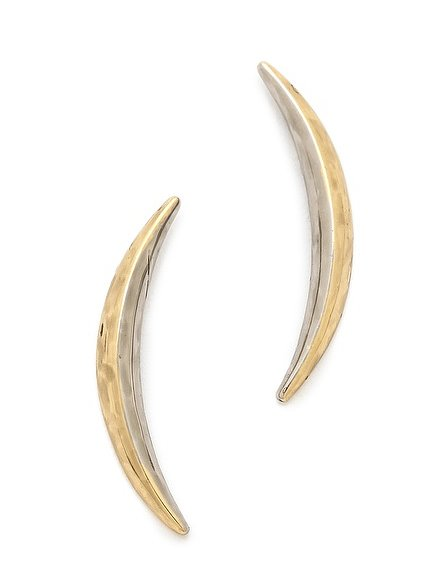 These House of Harlow sun and moon sliver earrings ($48) come from Nicole Richie's jewelry line. I love her original, eclectic style, and these would let me channel it myself!  — Annie Gabillet, news editor