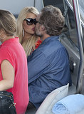 Jessica Simpson gave Eric Johnson a kiss when they visited Capri, Italy, in October.