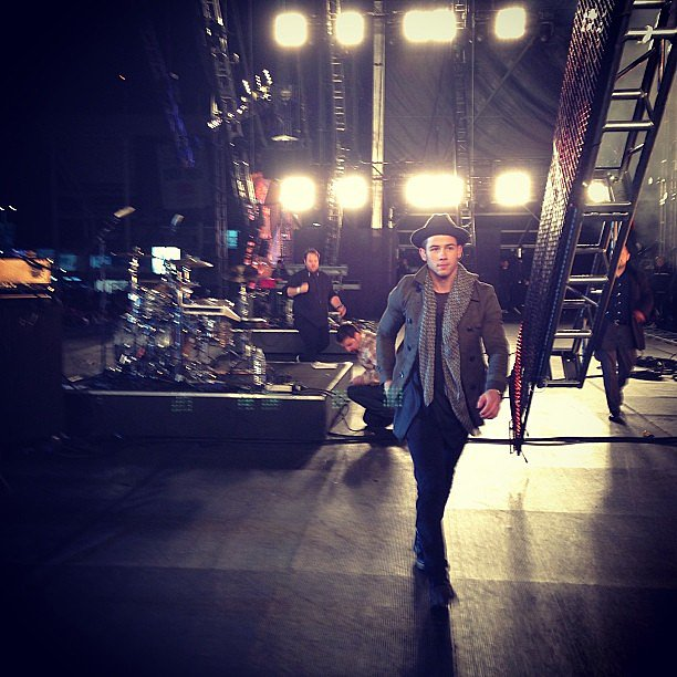 Nick Jonas shared a backstage shot in Mexico. Source: Instagram user nickjonas