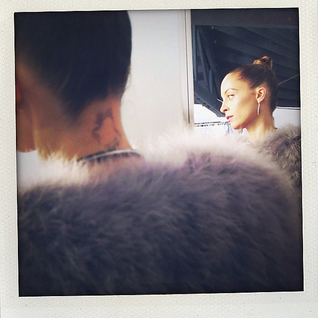 Nicole Richie got glamorous as she prepared to film Who What Wear. Source: Instagram user nicolerichie