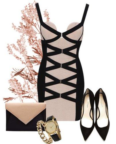 Luxury Nude Corset Kim Bandage Dress