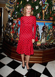 Eva Herzigova at Claridge's party for its Dolce & Gabbana Christmas Tree in London.