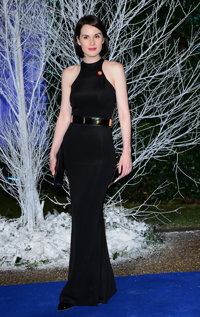 Michelle Dockery wore Spring 2014 Stella McCartney and De Beers diamonds at the Winter Whites Gala in London.