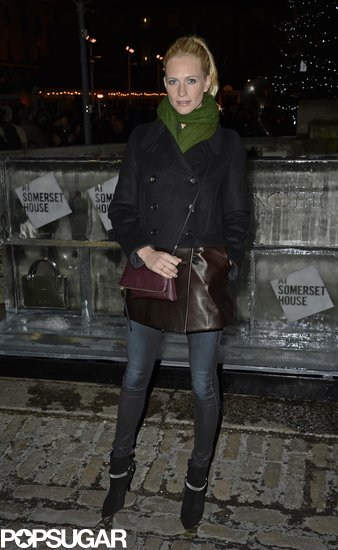 We're obsessed with Poppy Delevingne's coat! Instead of an everyday style, this one had a leather block at the bottom.