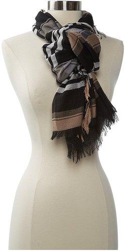 Steve Madden - Blanket Stripe Scarf (Black) - Accessories