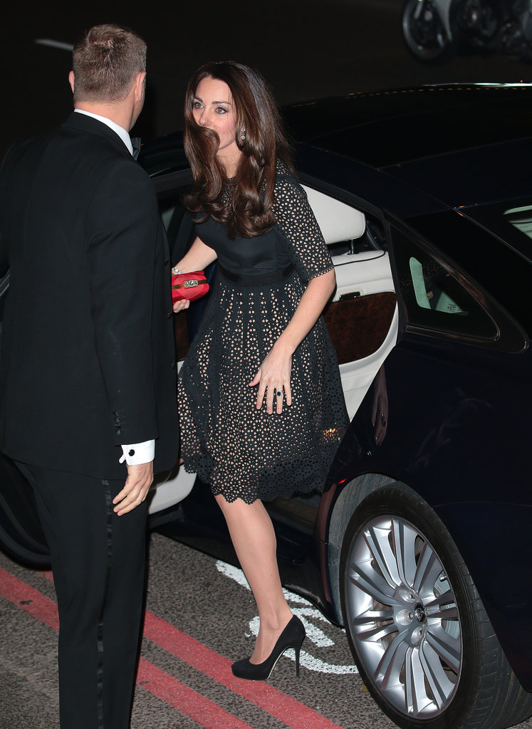 Kate Middleton wore an Alice Temperley dress.