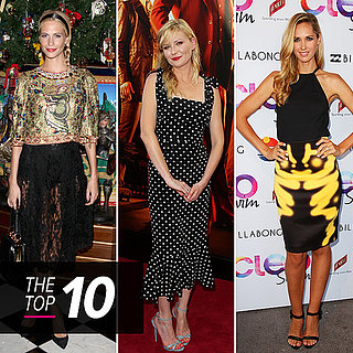 Kirsten Dunst Wearing Polka Dot Dress