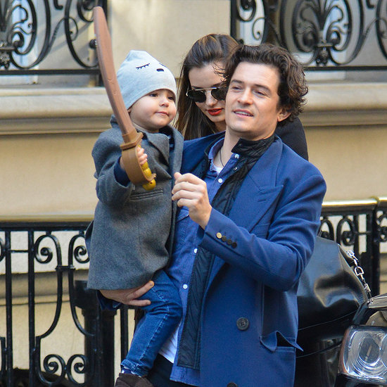 Miranda Kerr, Orlando Bloom, Flynn Bloom On Thanksgiving