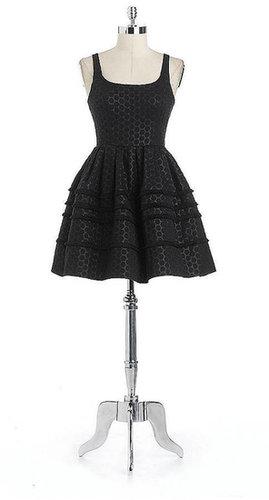 A.B.S. BY ALLEN SCHWARTZ Metallic Jacquard Party Dress