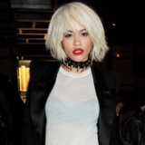 Rita Ora's Platinum Blonde Hair